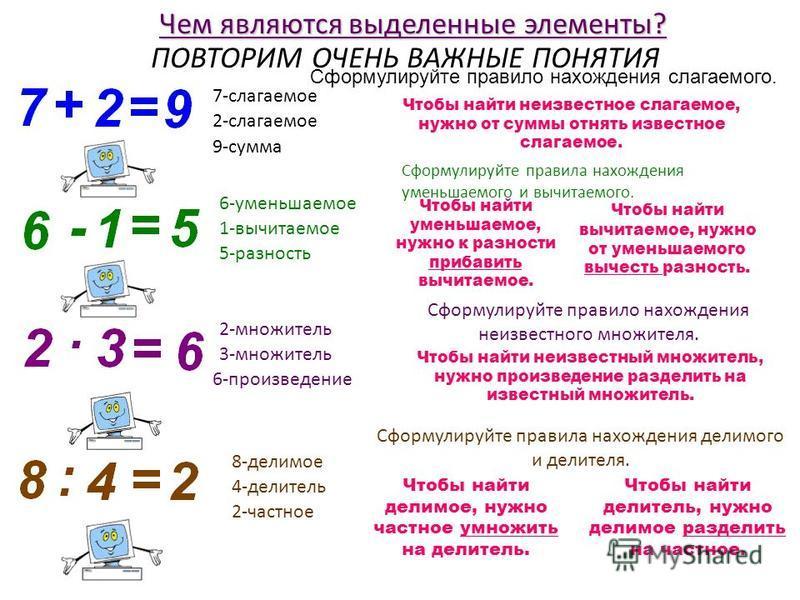 Уравнение. Значение буквы, при котором из уравнения получается верное равенство, называют корнем уравнения. Уравнением называют равенство, содержащее букву, значение которой надо найти. Под каким номером записано уравнение? Если это не уравнение, то