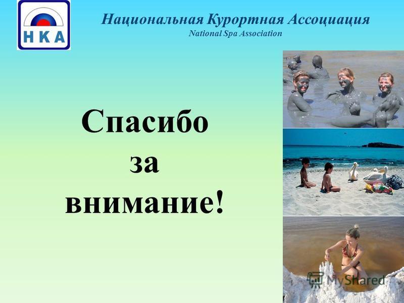 Спасибо за внимание! Национальная Курортная Ассоциация National Spa Association
