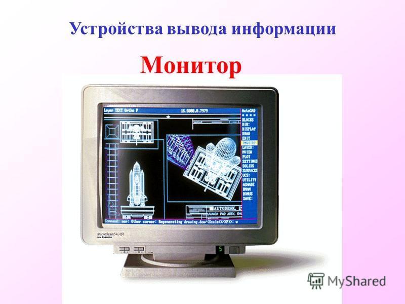 Монитор Устройства вывода информации