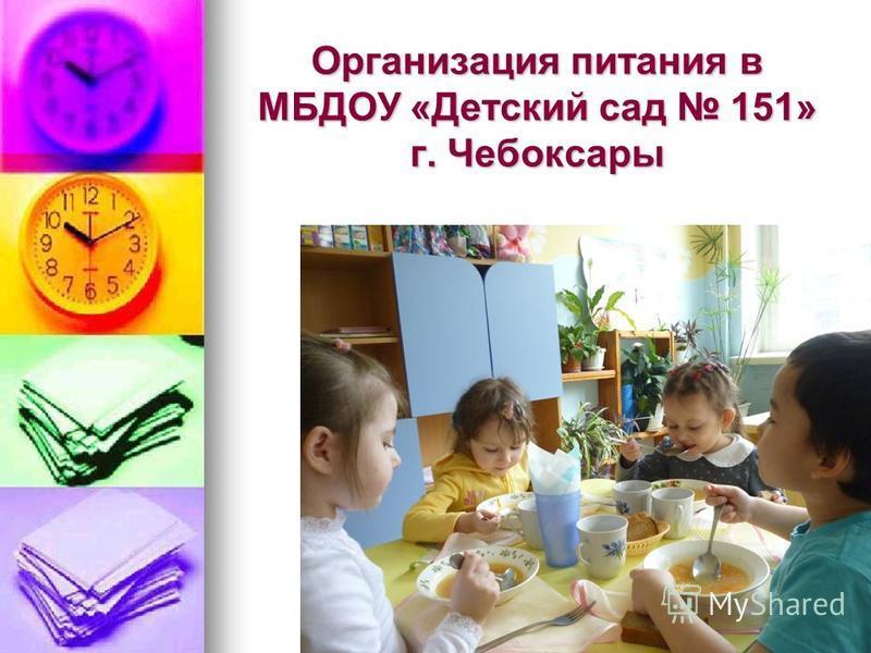 Организация питания в МБДОУ «Детский сад 151» г. Чебоксары