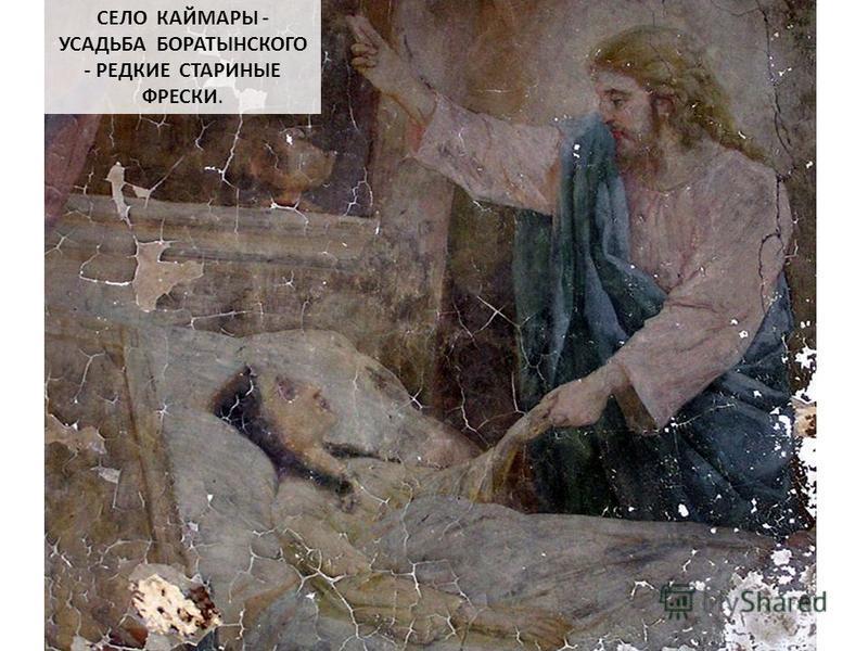 СЕЛО КАЙМАРЫ - УСАДЬБА БОРАТЫНСКОГО - РЕДКИЕ СТАРИНЫЕ ФРЕСКИ.