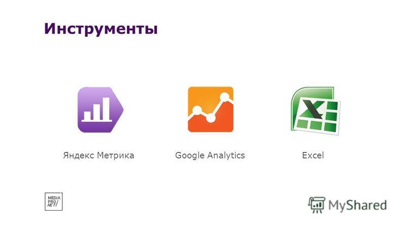 Инструменты Яндекс МетрикаGoogle AnalyticsExcel