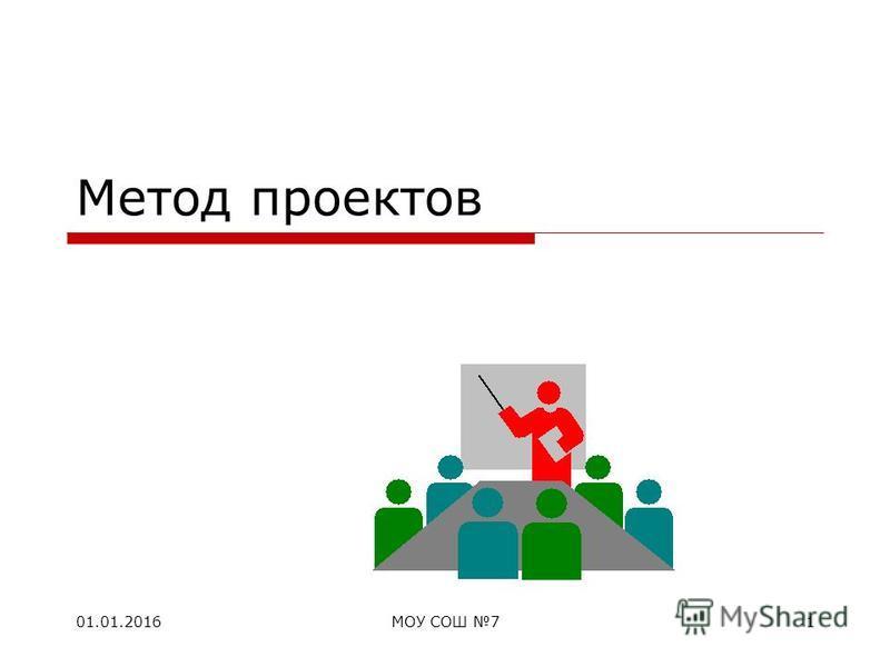 01.01.2016МОУ СОШ 71 Метод проектов