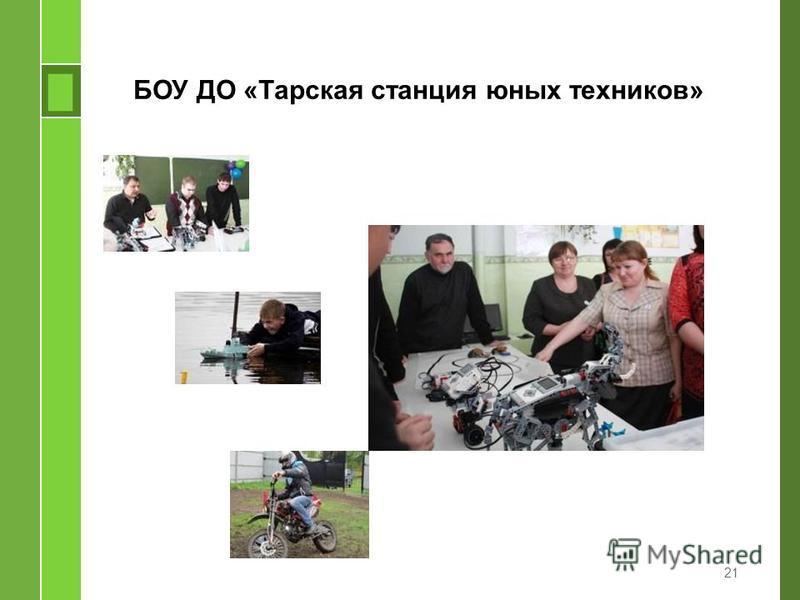 БОУ ДО «Тарская станция юных техников» 21