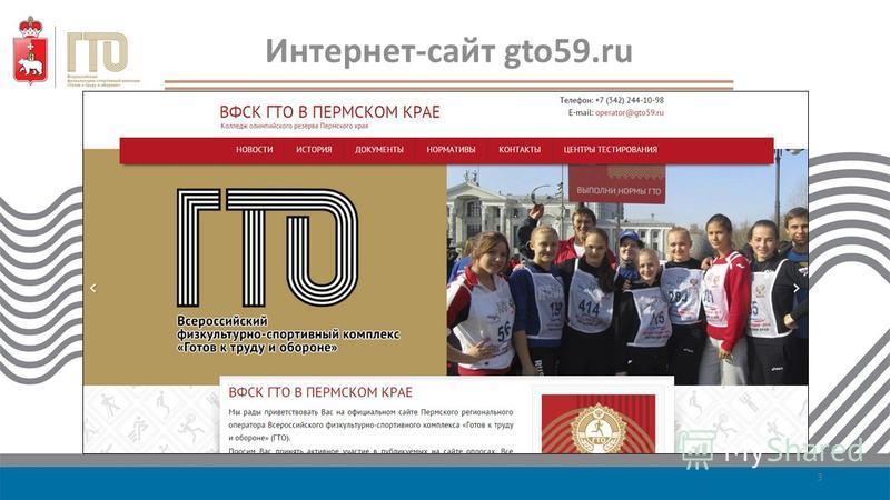 Интернет-сайт gto59. ru 3