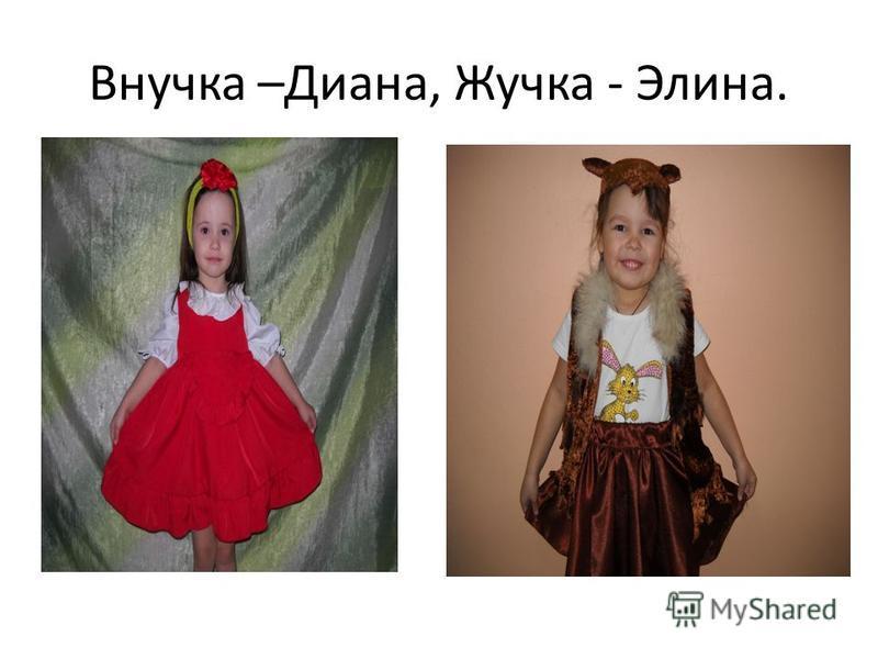 Внучка –Диана, Жучка - Элина.