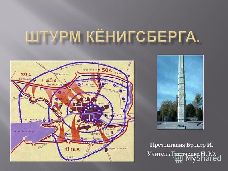 Презентация Бренер И. Учитель Гладченко Н. Ю.