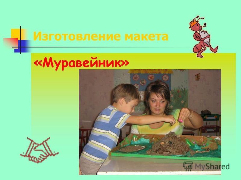 Изготовление макета «Муравейник»