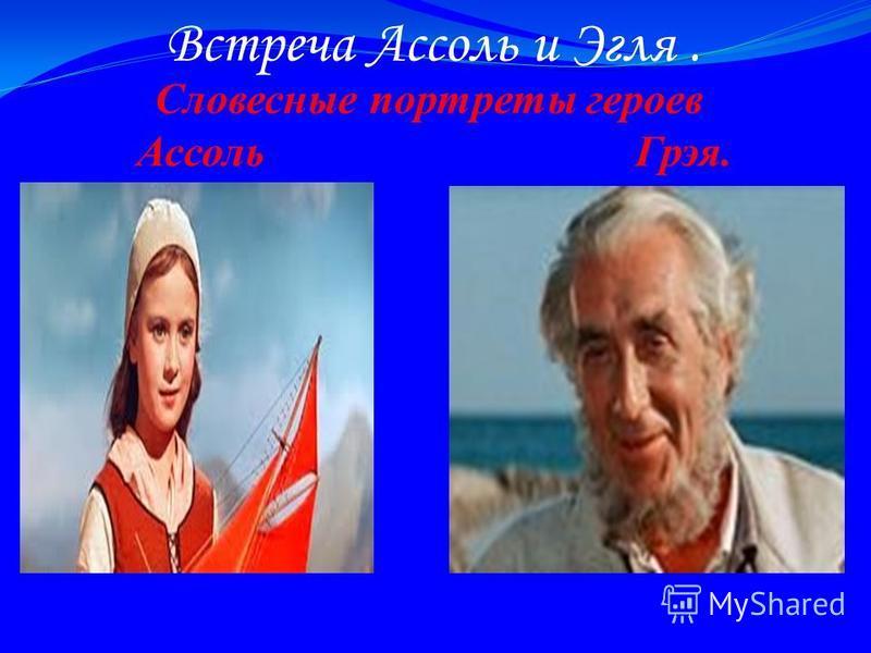 Встреча Ассоль и Эгля. Словесные портреты героев Ассоль Грэя.