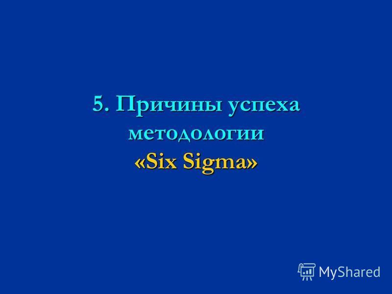 5. Причины успеха методологии «Six Sigma»