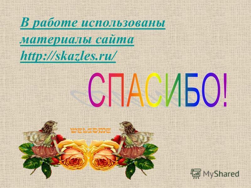 В работе использованы материалы сайта http://skazles.ru/