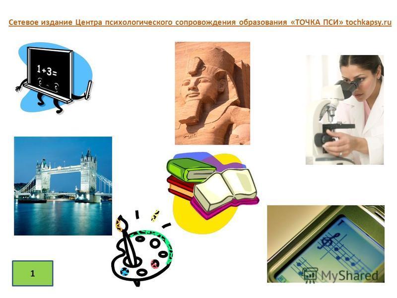 1 Сетевое издание Центра психологического сопровождения образования «ТОЧКА ПСИ» tochkapsy.ru