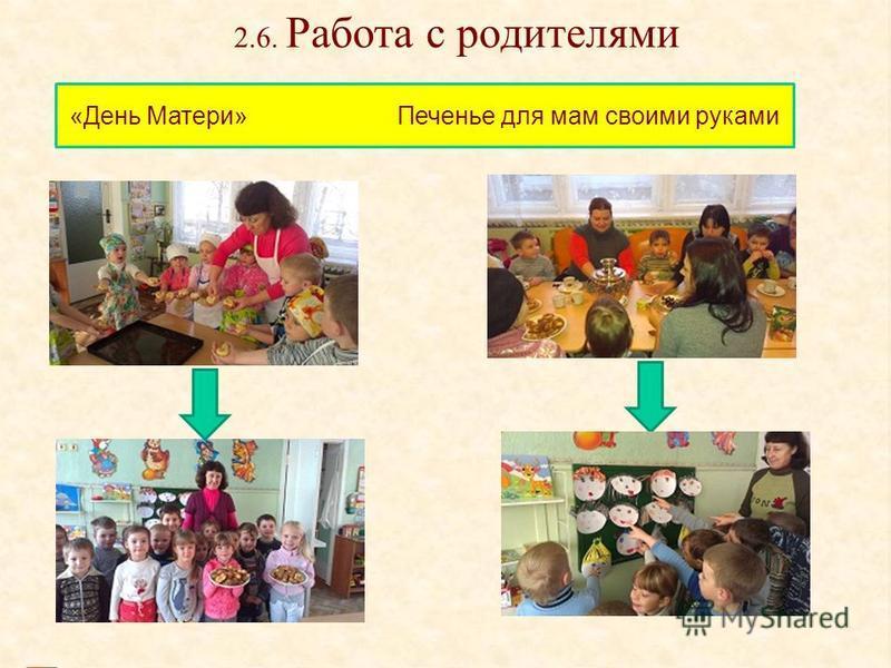 2.6. Работа с родителями «День Матери» Печенье для мам своими руками
