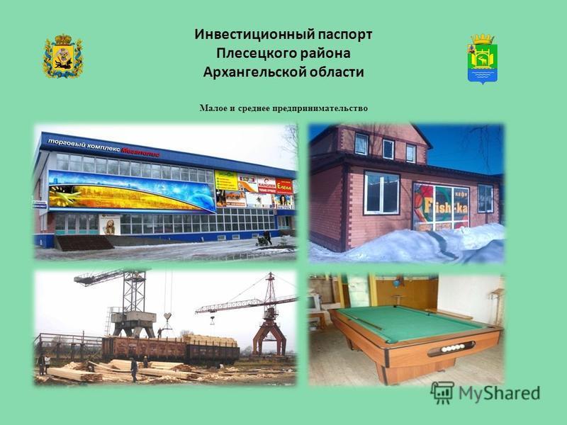 Инвестиционный паспорт Плесецкого района Архангельской области Малое и среднее предпринимательство