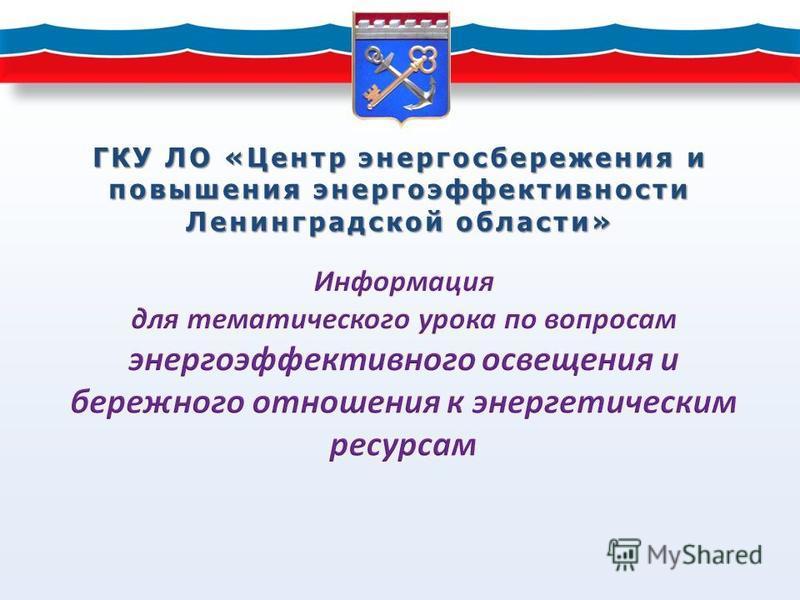 ГКУ ЛО «Центр энергосбережения и повышения энергоэффективности Ленинградской области»