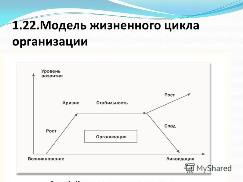 1.22. Модель жизненного цикла организации