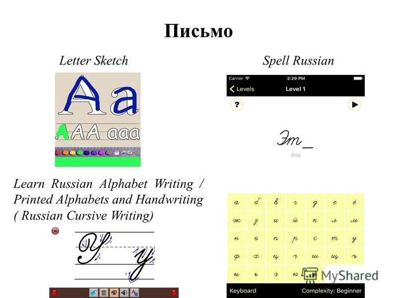 Письмо Letter SketchSpell Russian Learn Russian Alphabet Writing / Printed Alphabets and Handwriting ( Russian Cursive Writing)