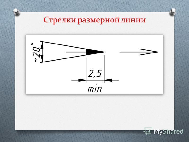 Стрелки размерной линии