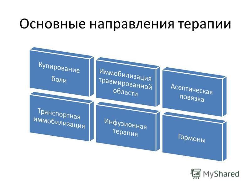 Основные направления терапии