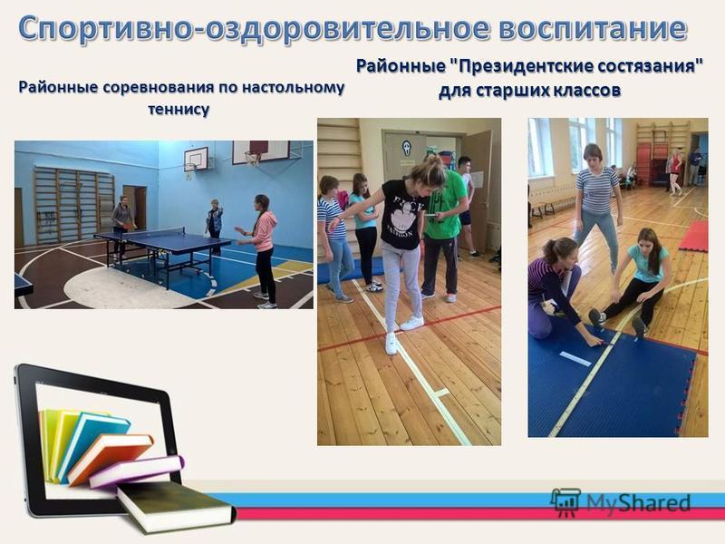 Районные Президентские состязания для старших классов Районные соревнования по настольному теннису Районные соревнования по настольному теннису