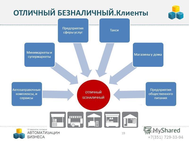 1cab.ru +7(351) 729-33-94 ОТЛИЧНЫЙ БЕЗНАЛИЧНЫЙ.Клиенты 19 ОТЛИЧНЫЙ БЕЗНАЛИЧНЫЙ Автозаправочные комплексы, и сервисы Минимаркеты и супермаркеты Предприятия сферы услуг Такси Магазины у дома Предприятия общественного питания