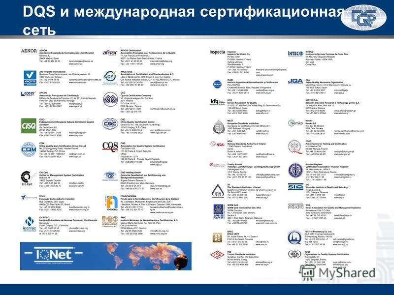 DQS и международная сертификационная сеть