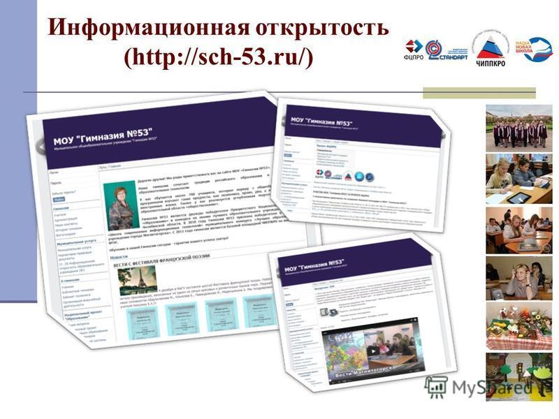 Информационная открытость (http://sch-53.ru/)