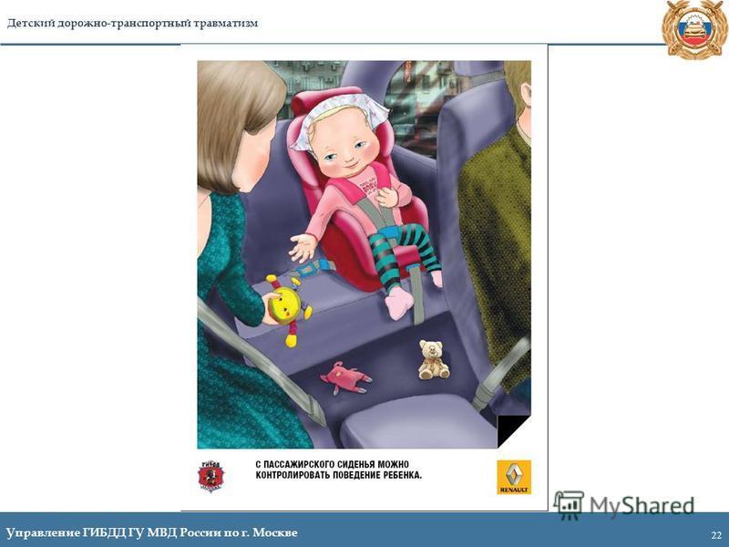 22 Управление ГИБДД ГУ МВД России по г. Москве Детский дорожно-транспортный травматизм