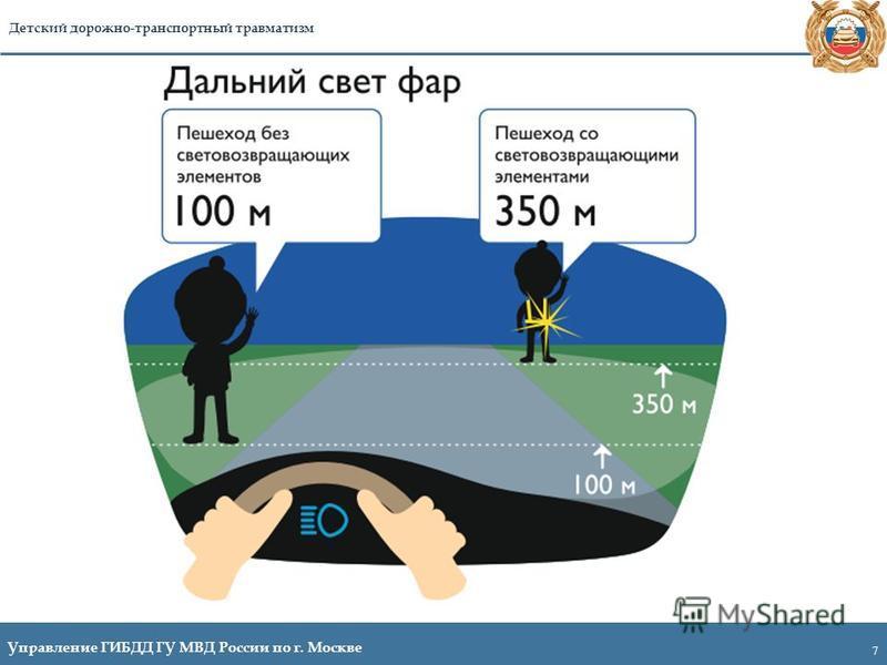 7 Управление ГИБДД ГУ МВД России по г. Москве Детский дорожно-транспортный травматизм