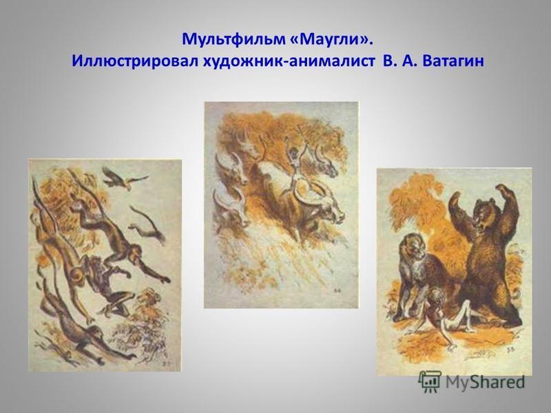 Мультфильм «Маугли». Иллюстрировал художник-анималист В. А. Ватагин