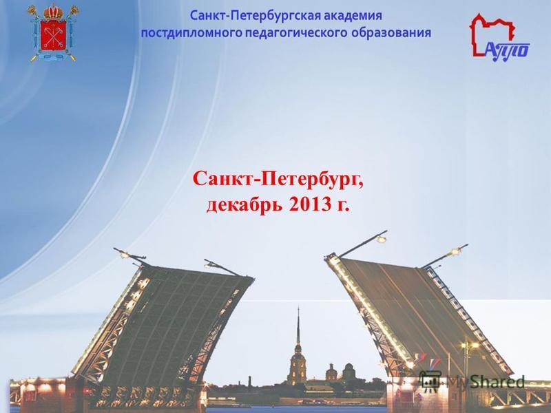Санкт-Петербург, декабрь 2013 г.