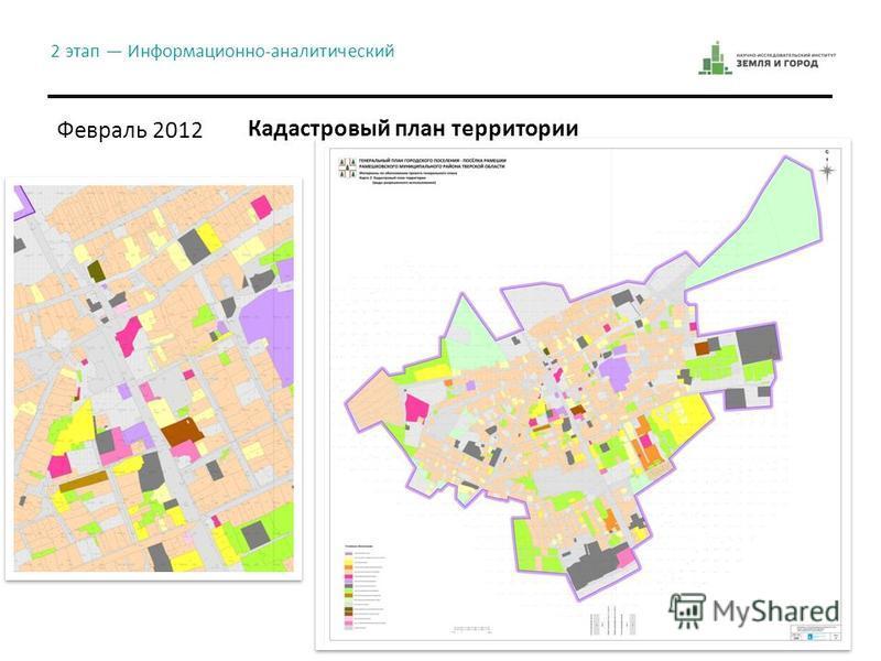 Февраль 2012 2 этап Информационно-аналитический Кадастровый план территории