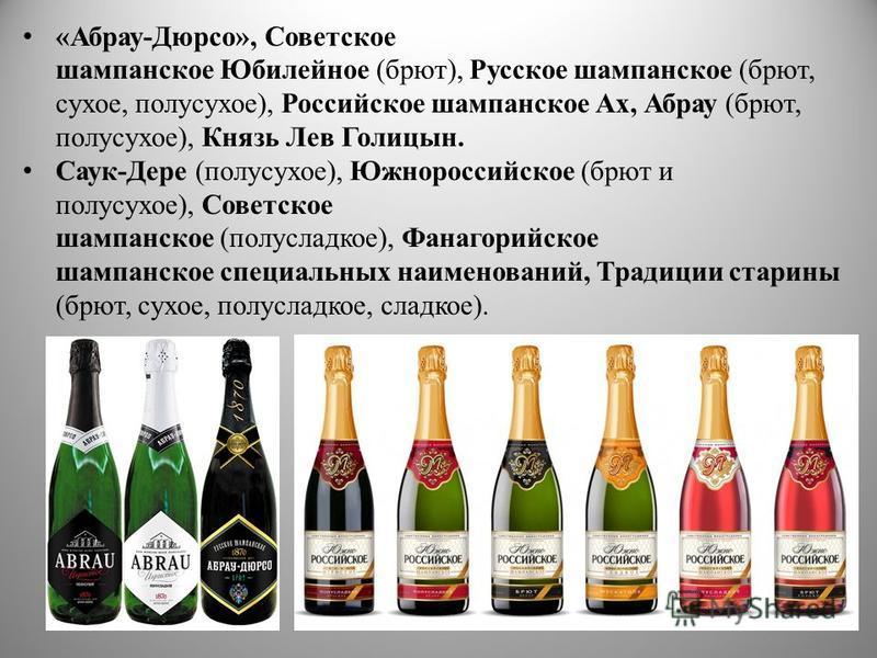публиковать, какое шампанское лучше брют или полусладкое приема резины