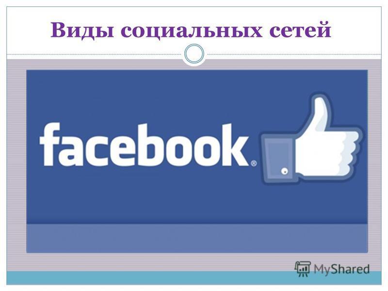 Виды социальных сетей
