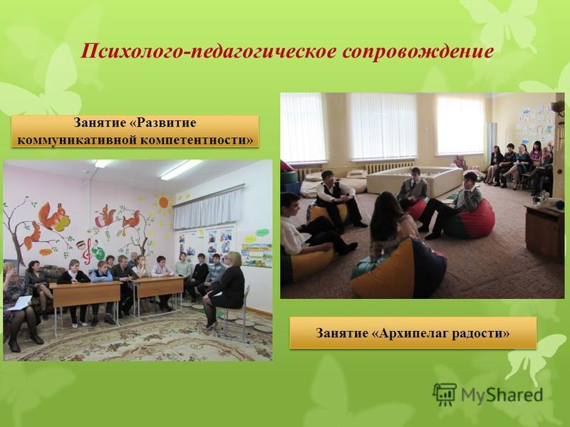 Психолого-педагогическое сопровождение Занятие «Развитие коммуникативной компетентности» Занятие «Архипелаг радости»