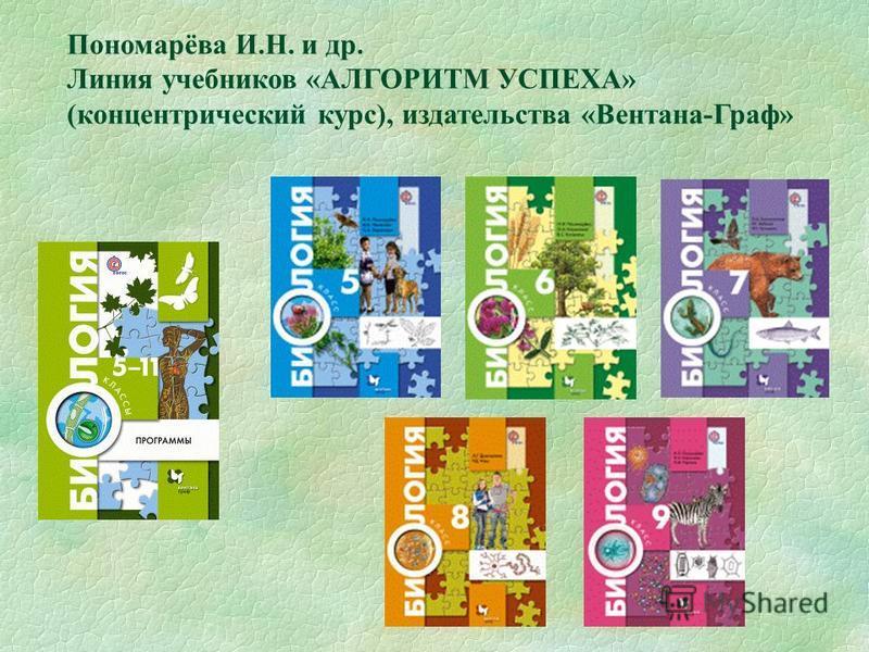 Пономарёва И.Н. и др. Линия учебников «АЛГОРИТМ УСПЕХА» (концентрический курс), издательства «Вентана-Граф»