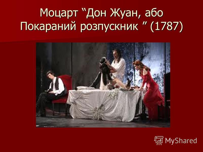 Моцарт Дон Жуан, або Покараний розпускник (1787)