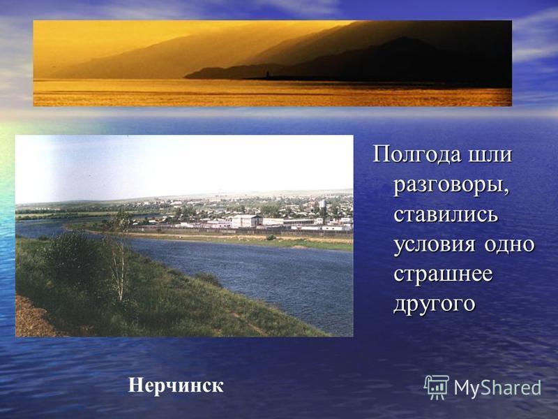 Полгода шли разговоры, ставились условия одно страшнее другого Нерчинск