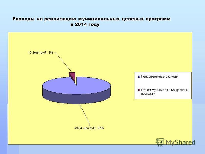 Расходы на реализацию муниципальных целевых программ в 2014 году