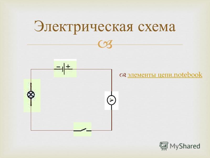 Электрическая схема элементы цепи.notebook элементы цепи.notebook