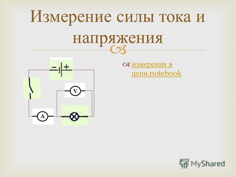 Измерение силы тока и напряжения измерения в цепи.notebook измерения в цепи.notebook