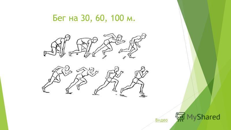 Бег на 30, 60, 100 м. Видео