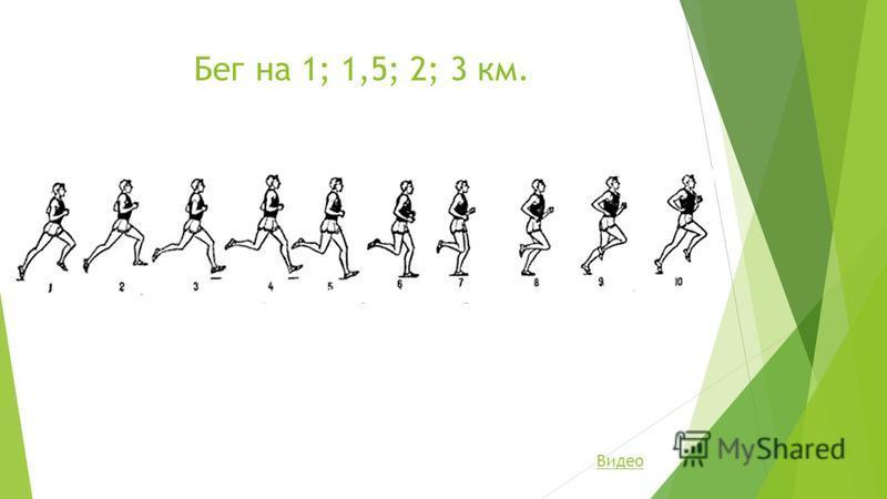 Бег на 1; 1,5; 2; 3 км. Видео
