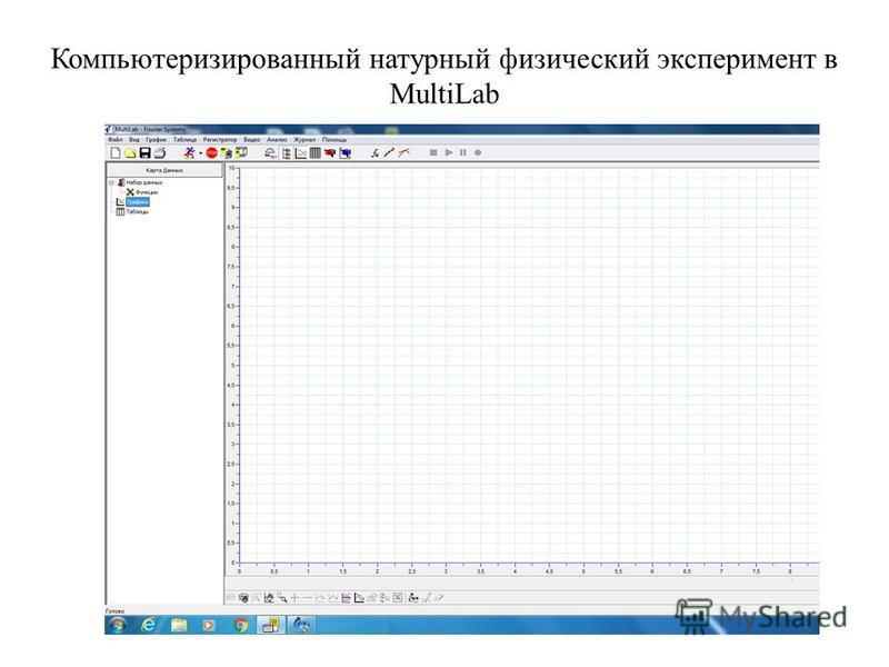 Компьютеризированный натурный физический эксперимент в MultiLab