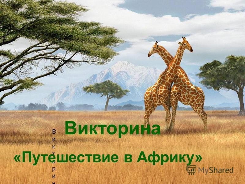 Викторина Викторина Викторина «Путешествие в Африку»
