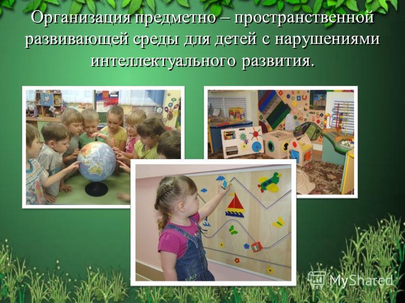 Организация предметно – пространственной развивающей среды для детей с нарушениями интеллектуального развития.