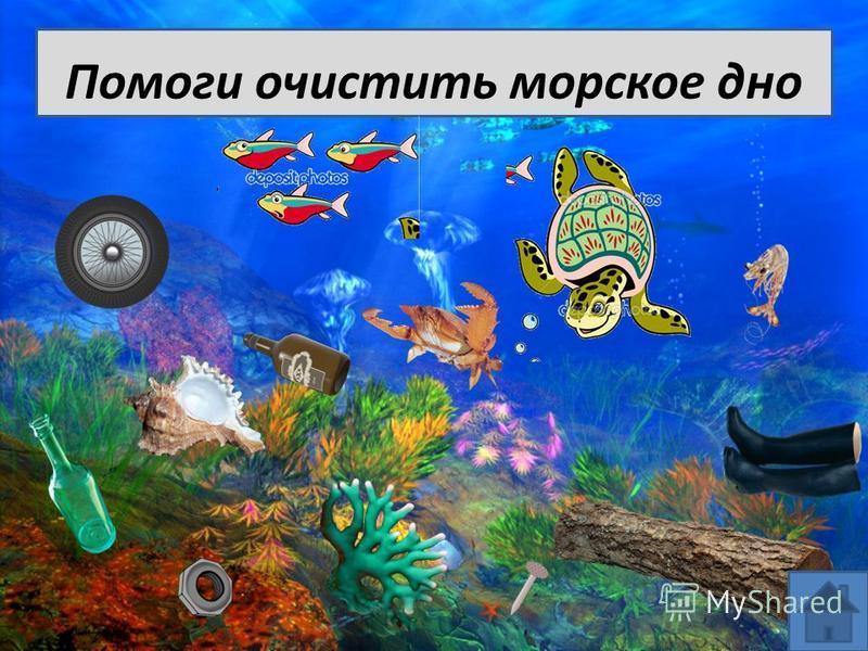 Помоги очистить морское дно