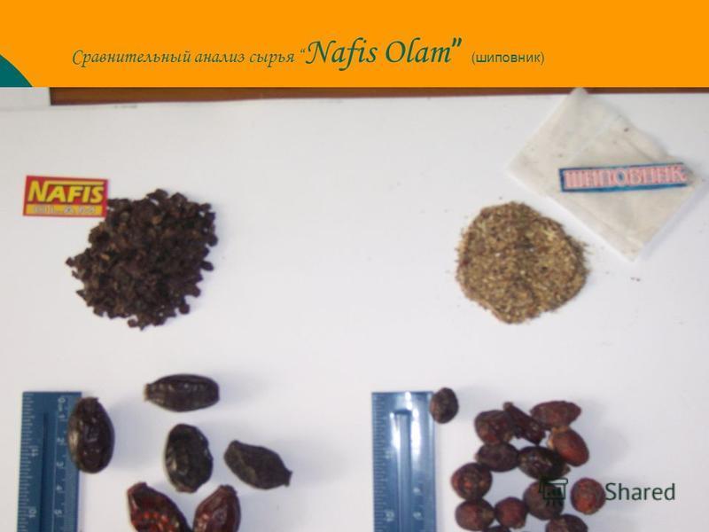 Сравнительный анализ сырья Nafis Olam (шиповник)