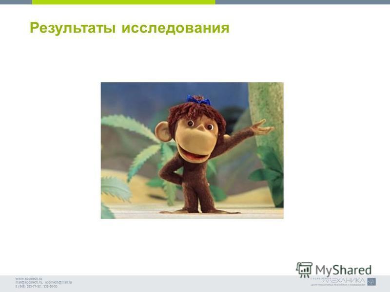 www.socmech.ru mail@socmech.ru, socmech@mail.ru 8 (846) 333-77-97, 332-56-93 Результаты исследования