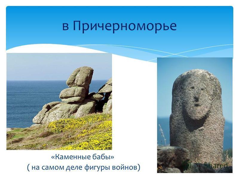 «Каменные бабы» ( на самом деле фигуры войнов) в Причерноморье